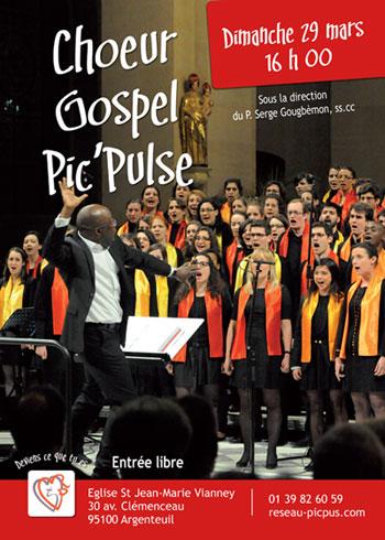 affiche du concert gospel pic'pulse