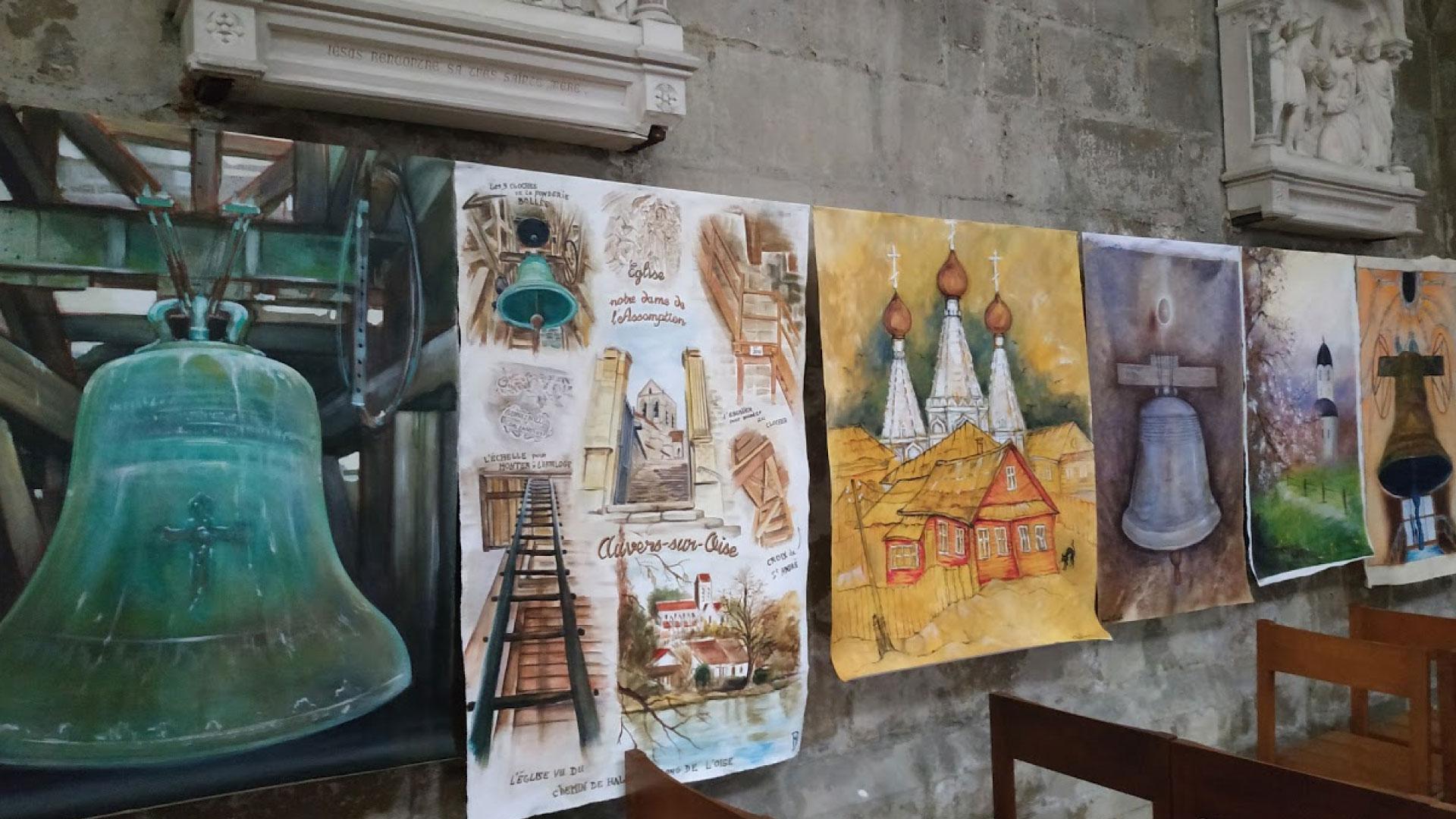 Exposition sur les cloches à Auvers-sur-Oise