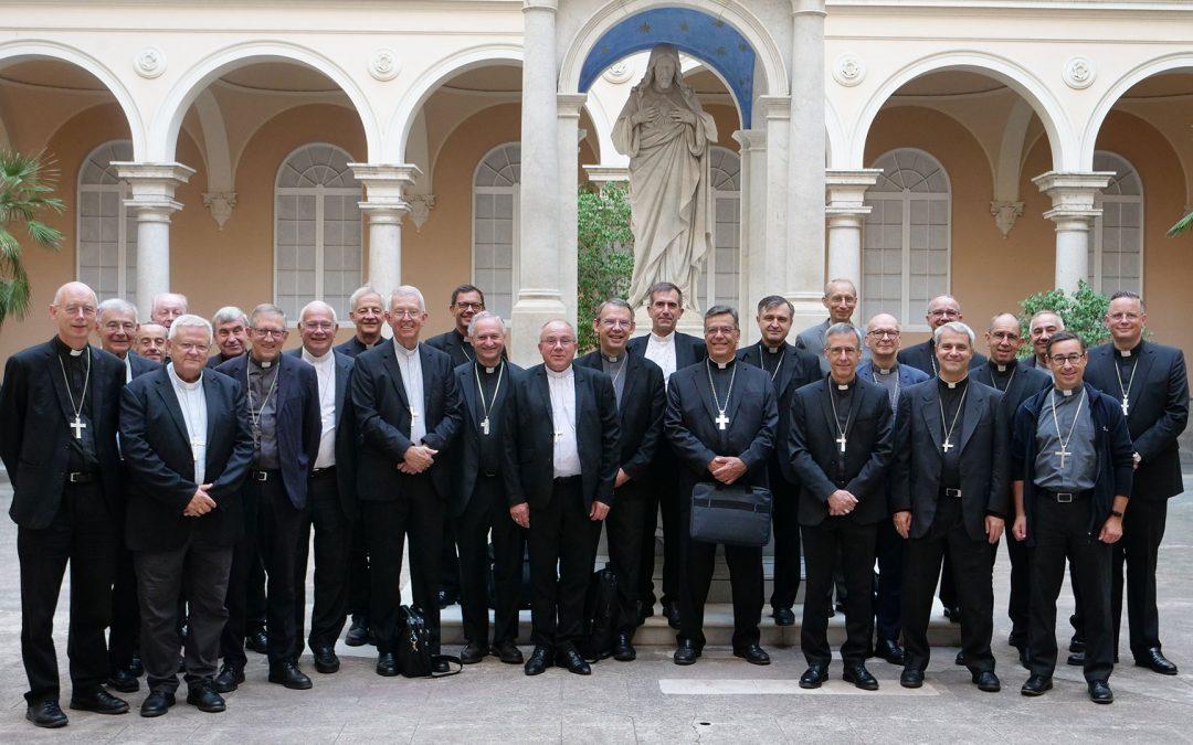 Mgr Lalanne en visite Ad Limina à Rome